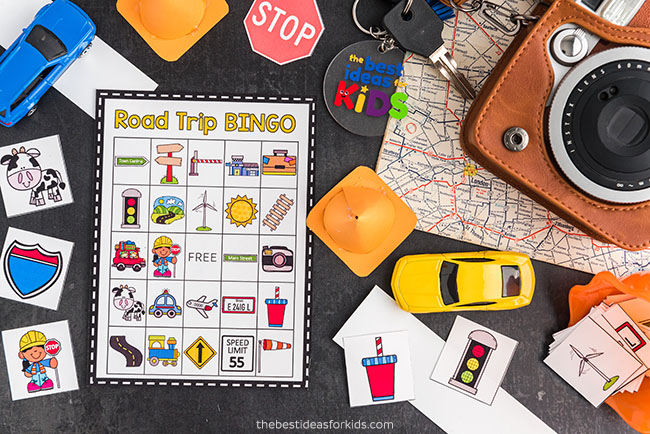 Road Trip Bingo Game for Kids