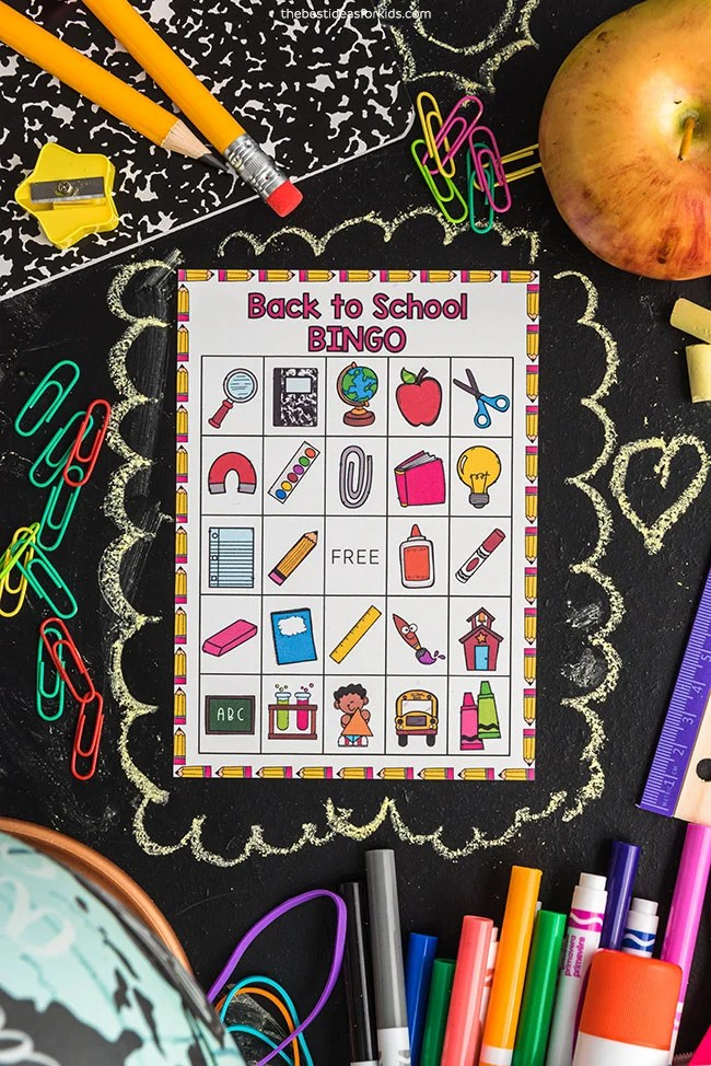 Back to School Bingo Free Printable