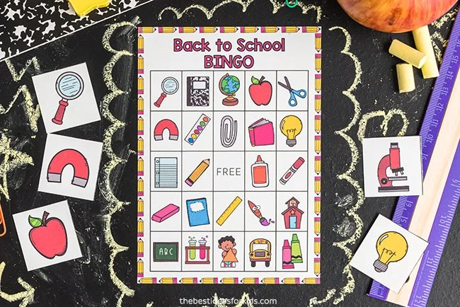 Back to School Free Printable Bingo