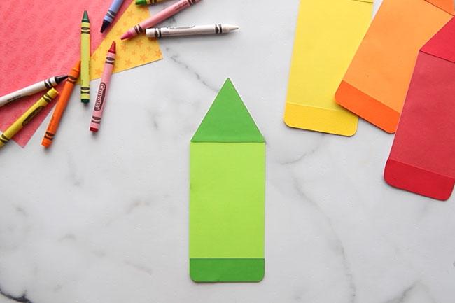 Crayon Card Gluing