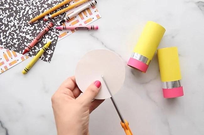 Cut Circle for Pencil Top