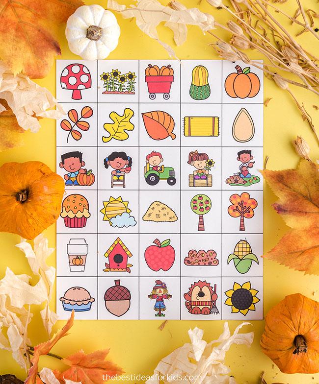 Fall Bingo Calling Cards