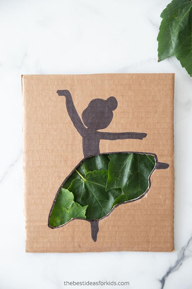 Cardboard Ballerina Cutout Craft