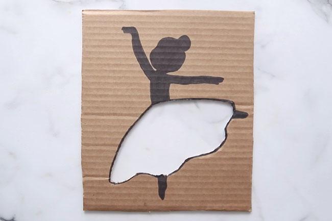 Cardboard Ballerina Cutout