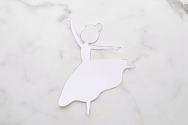 Cut out Ballerina Template