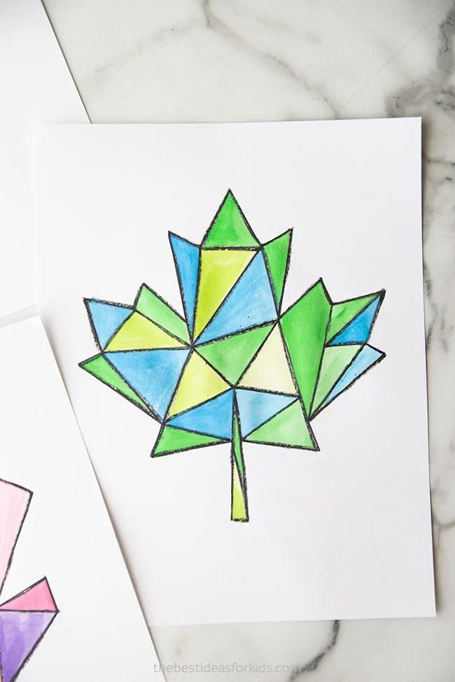 Geometric Maple Leaf