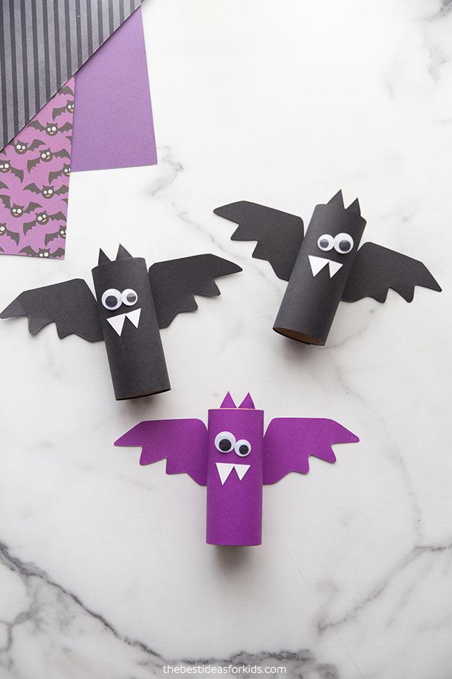 Toilet Paper Roll Bats Craft