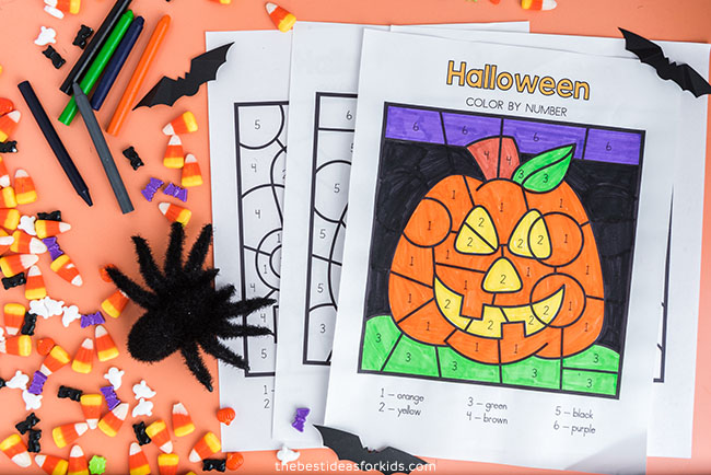 Printable Halloween Color by Number
