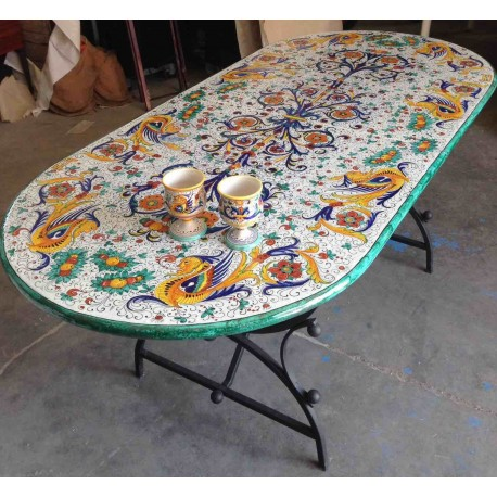 Bellissimi, dipinti a mano, made in italy! Ceramic Elliptical Table Rich Deruta Style