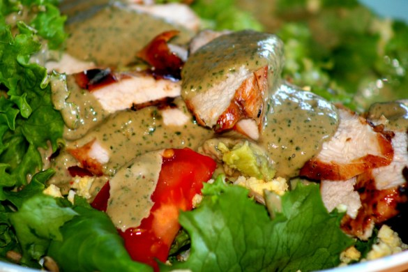 Grilled Chicken wasabi dressing recipe