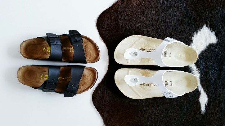 Black and White Birkenstocks