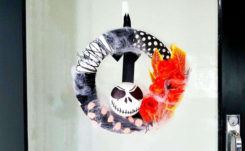 New Zealand's Top Mummy Blogger Parenting Travel Blog Halloween Wreath Nightmare Before Christmas