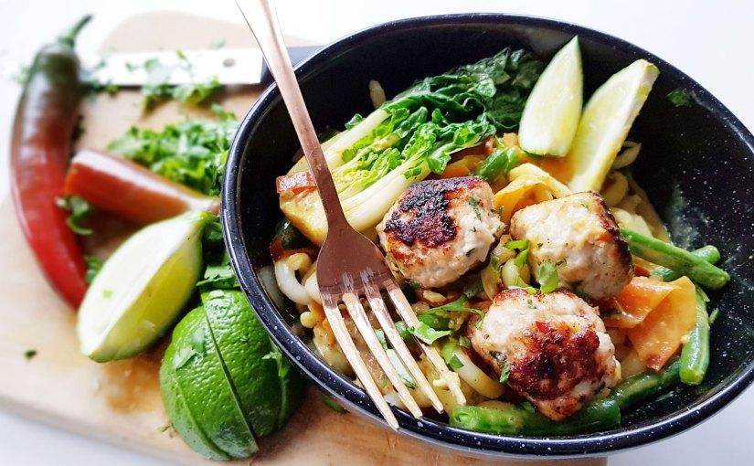 Recipe: Thai Chicken Meatballs in Coconut Curry