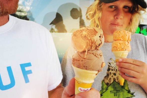 New Zealand's Top Mummy Blogger Parenting Travel Blog Family Tip Top Ice Cream Summer