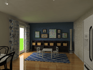 3D imaging created for Diandra's children's playroom.