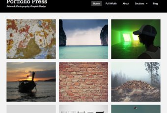 Portfolio Press – A Simple Portfolio Theme