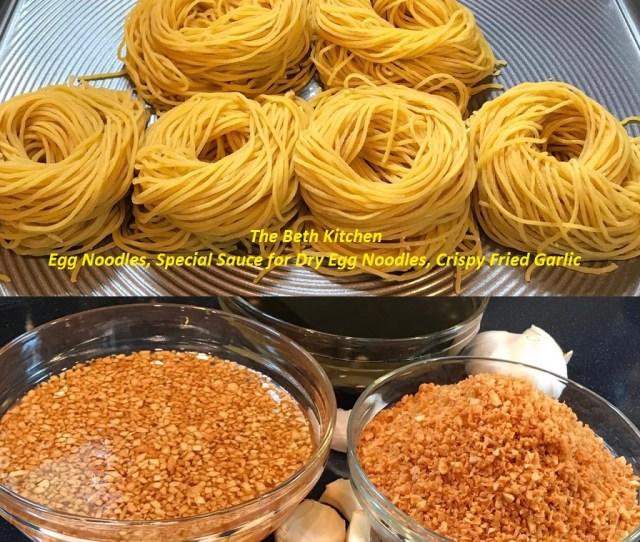 How To Make Egg Noodles By Phillips Pasta Maker Sauce For Dry Egg Noodles Crispy Fried Garlic