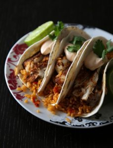 Spiced Tacos with Chipotle Cream