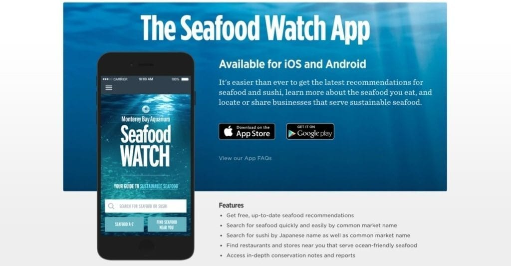 Seafood Watch Mobile App