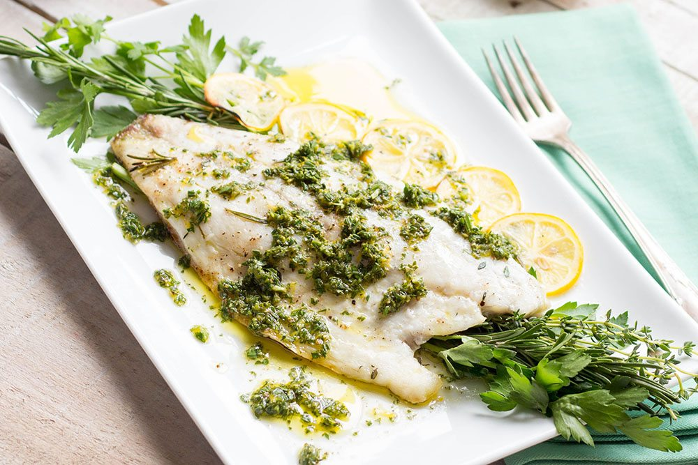 Roasted Barramundi with Meyer Lemon Vinaigrette