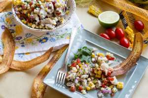 Barramundi Corn and Tomato Ceviche - 5 Office-Friendly Ways to Eat Fish For Lunch