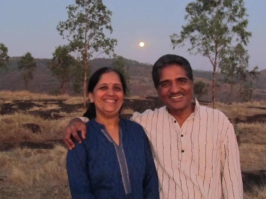 Dr. Pravin Chordia with his wife at the Serene Eco Village