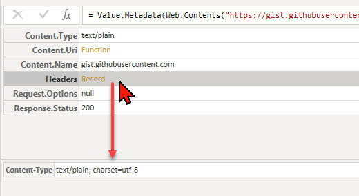 Return header fields like response status from Web.Contents