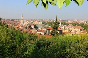 View of Verona from campsite