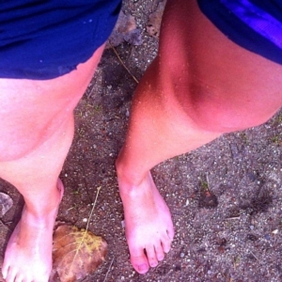 Post-plunge feet. The water is not warm.