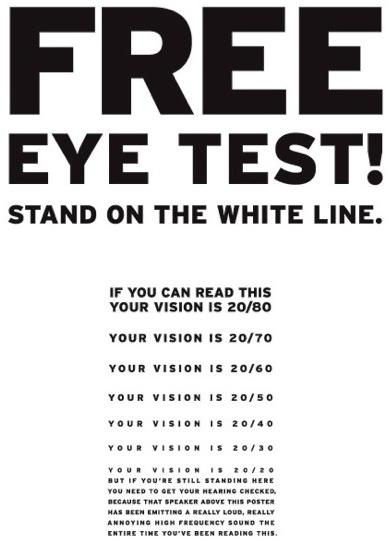 Fake Eye Exam That Tests Hearing The Big Ad