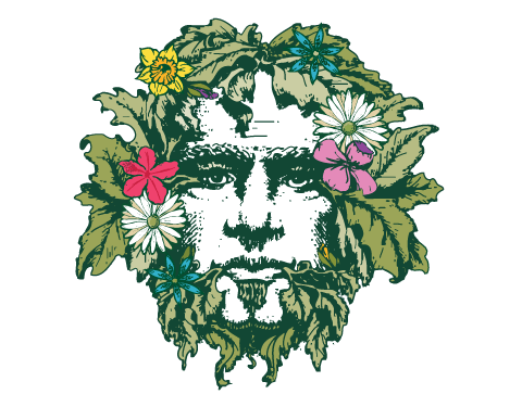 Green Man Brewery Spring Logo Variation