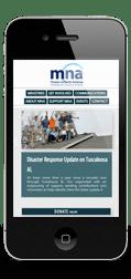Mission to North America Mobile Web Design