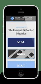 Covenant College G.S.E. Mobile Web Design