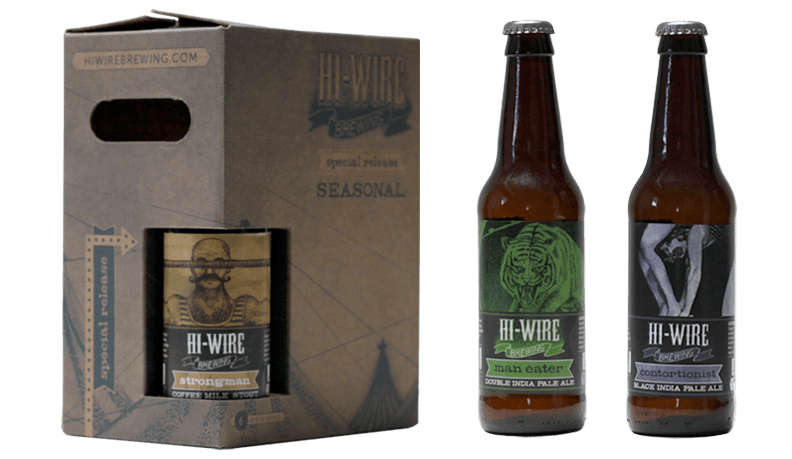 Hi-Wire Brewing Seasonal Beer Package Design