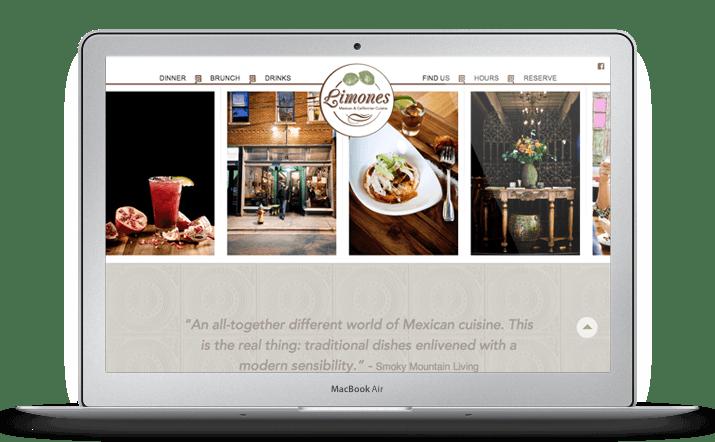Limones Web Design Homepage
