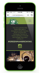 Green Man Brewery Mobile Website Design