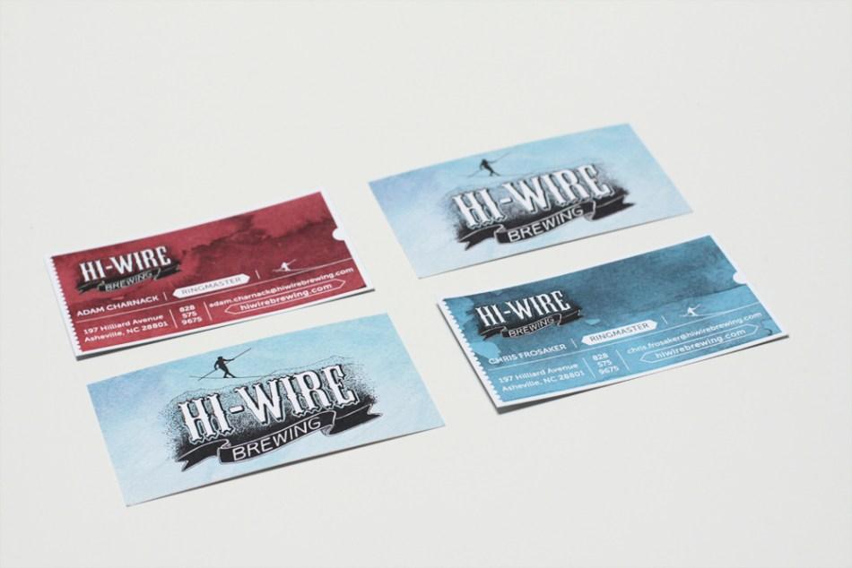 Hi-Wire Brewing Business Card Design