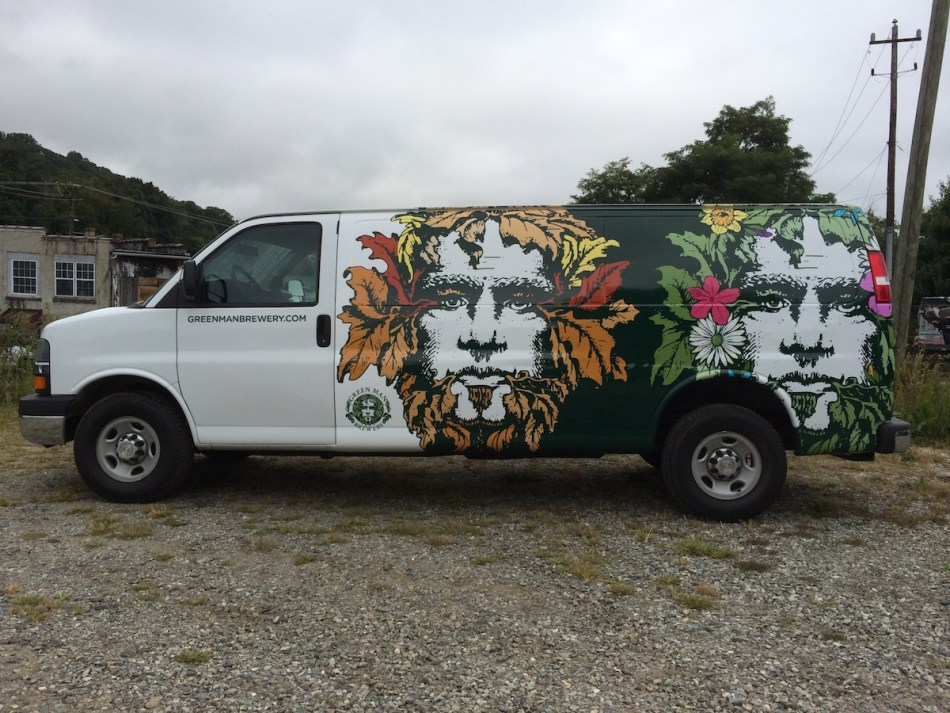Green Man Brewing Van Wrap Driver Side