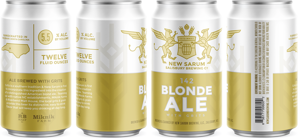 New Sarum Brewing Blonde Ale Can Design