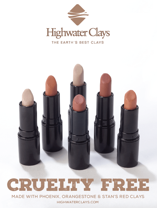 Highwater Clays Print Advertising Design Cruelty Free