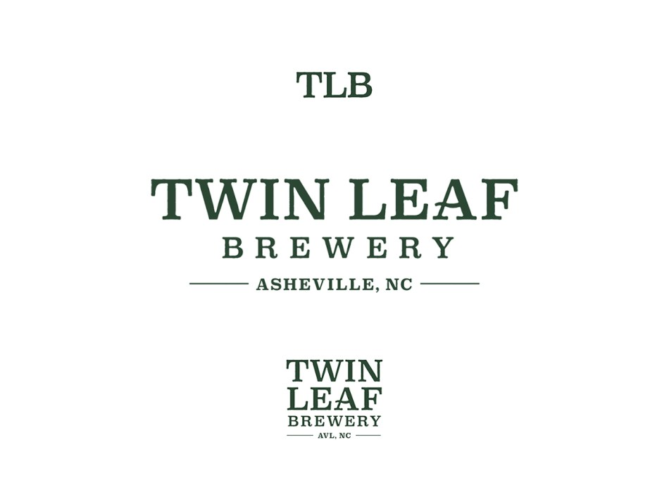 Twin Leaf Brewery Text Logos