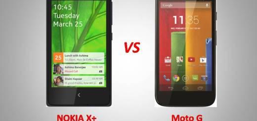 NokiaX+ vs MotoG