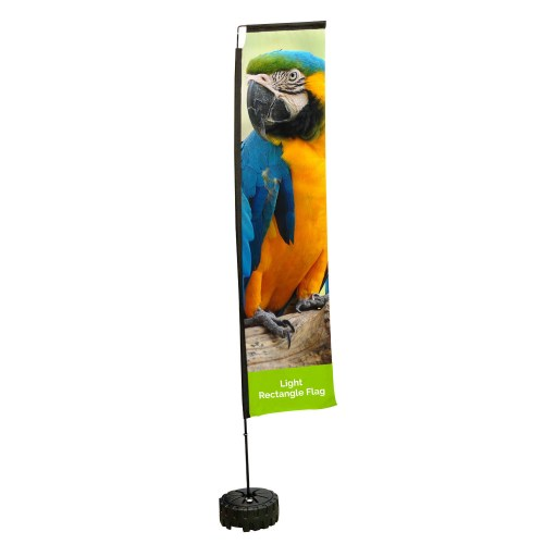 Light Printed Rectangle Flag - The Big Display Company