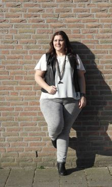 black, white & grey jeans