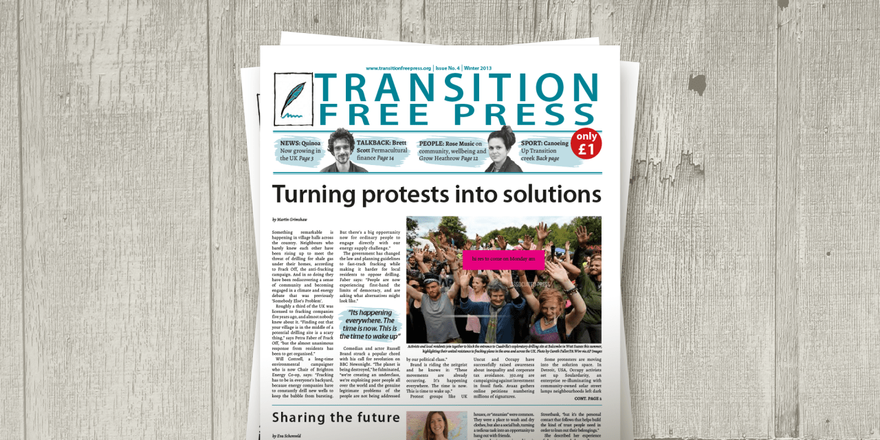 Transition Free Press 4 (Winter 2013)—Moving on from the Coop