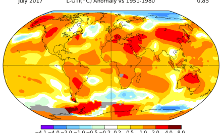 No El Nino, but July 2017 was hottest on record, so why?
