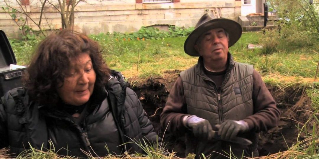 Dr & Dr Bourguignon in a hole
