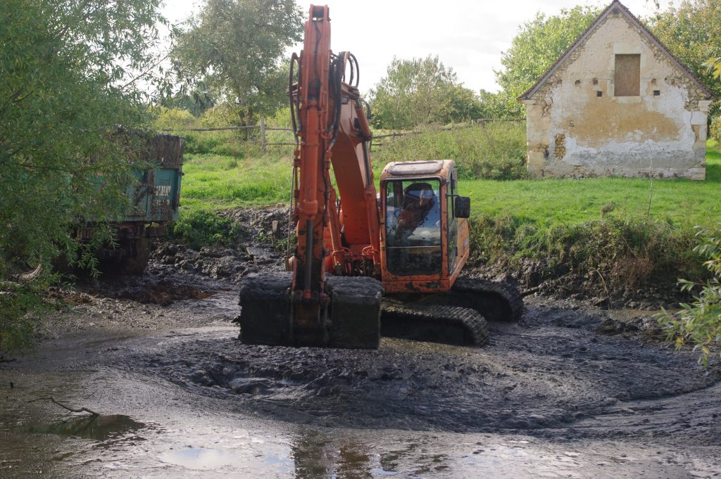 Dredging the pond