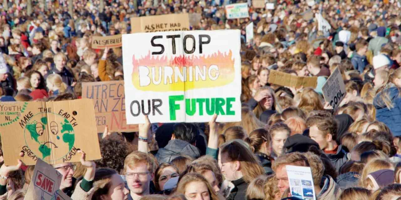 My generation trashed the planet so I salute the children striking back