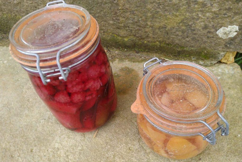 Bottled fruit